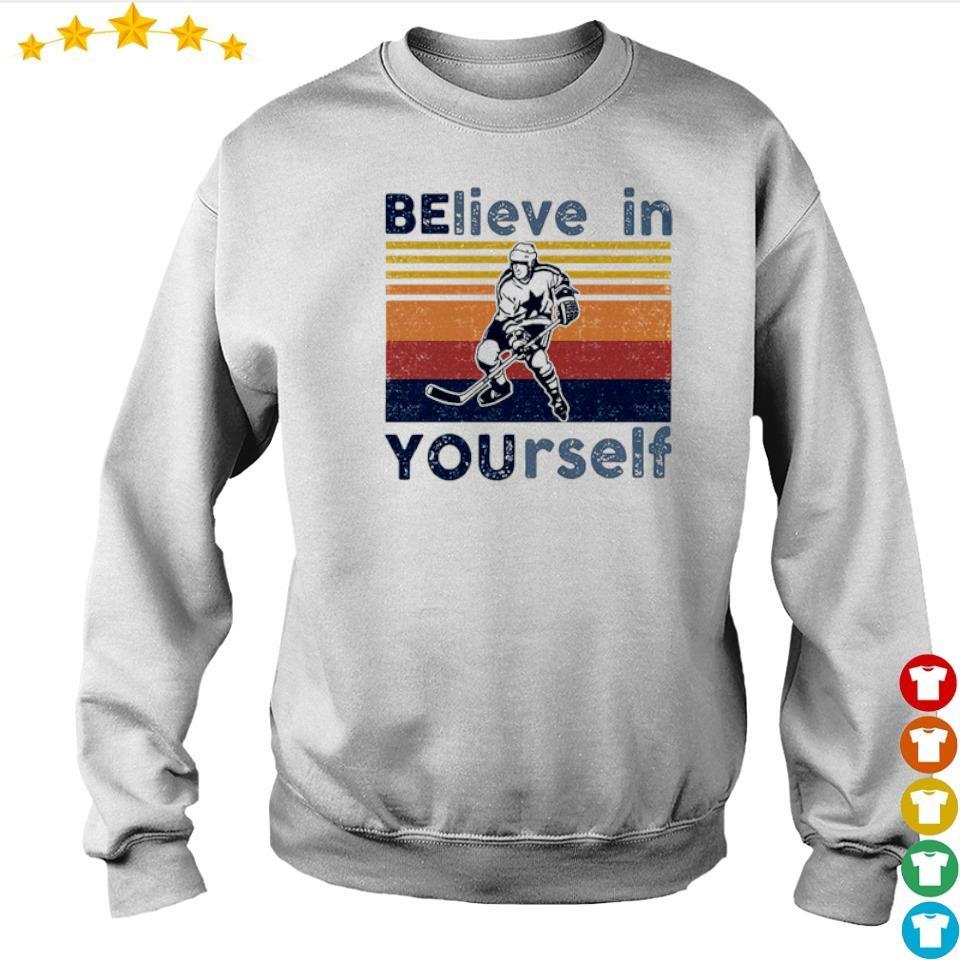 Hockey believe in yourself vintage retro s sweater