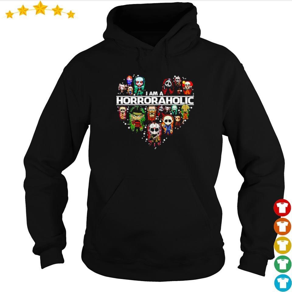 Horror chibi characters I am a Horroraholic s hoodie