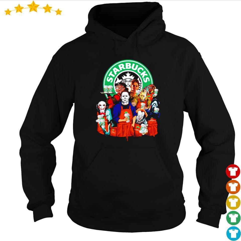 Horror movie character love Starbucks s hoodie