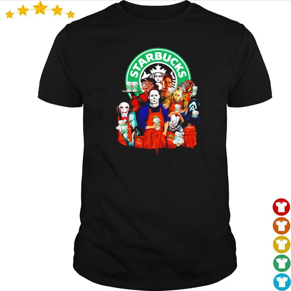 Horror movie character love Starbucks shirt