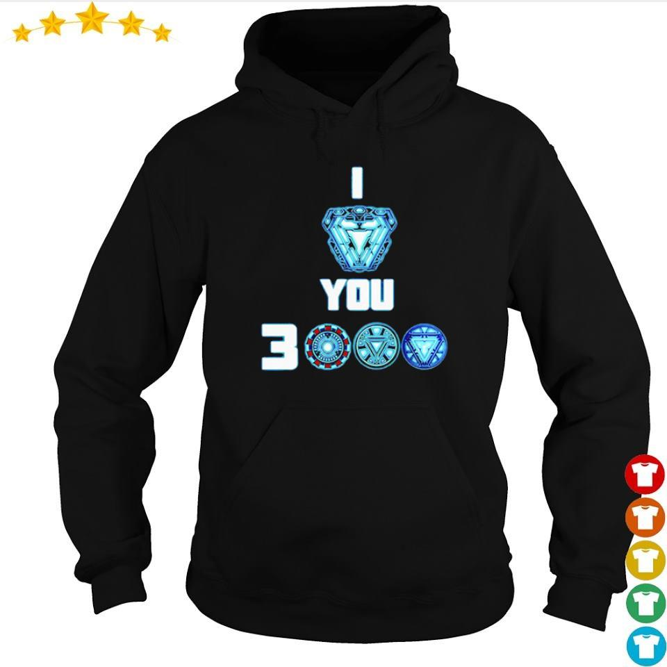 Iron Man arc reactor I love you 3000 s hoodie