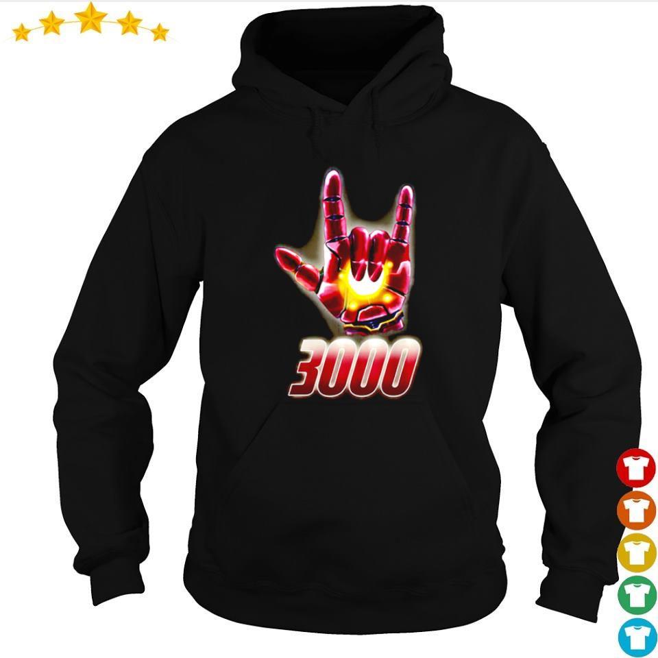 Iron Man I love you 3000 rock n' roll s hoodie