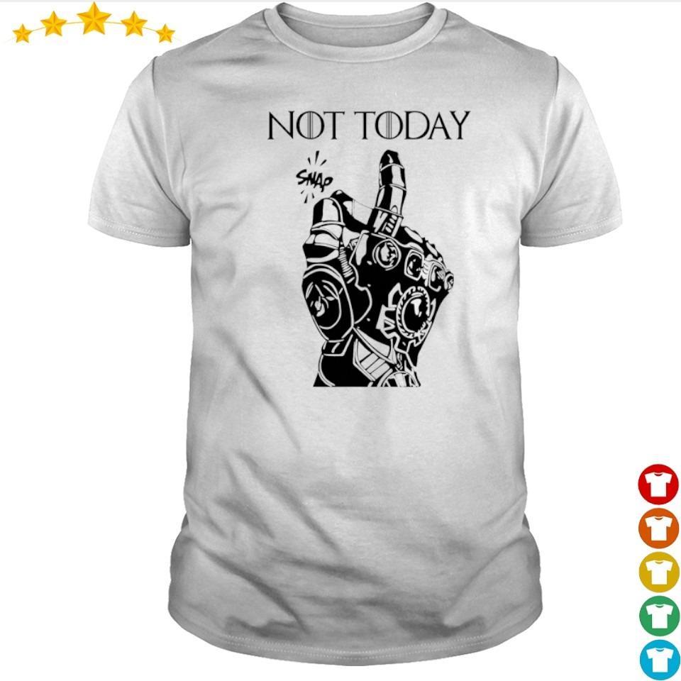 Marvel Infinity gauntlet not today snap shirt
