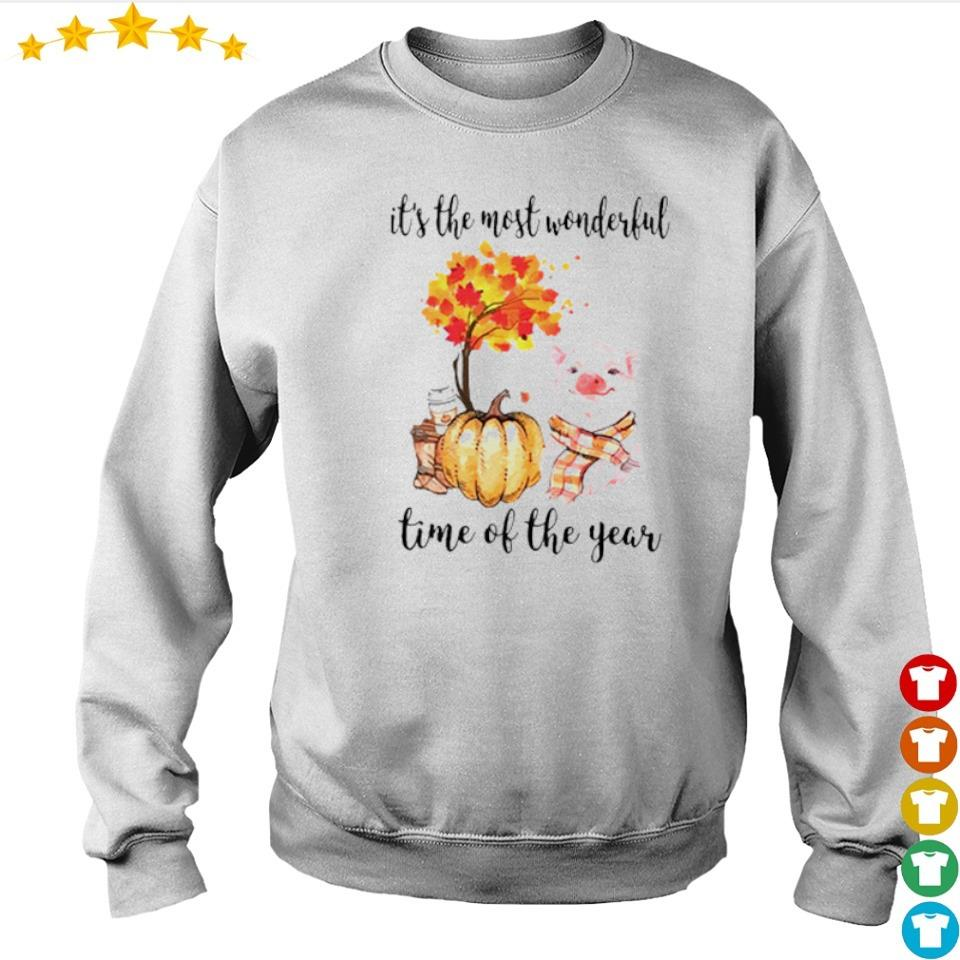 Pig Fall pumpkin it's the most wonderful time of the year s sweater