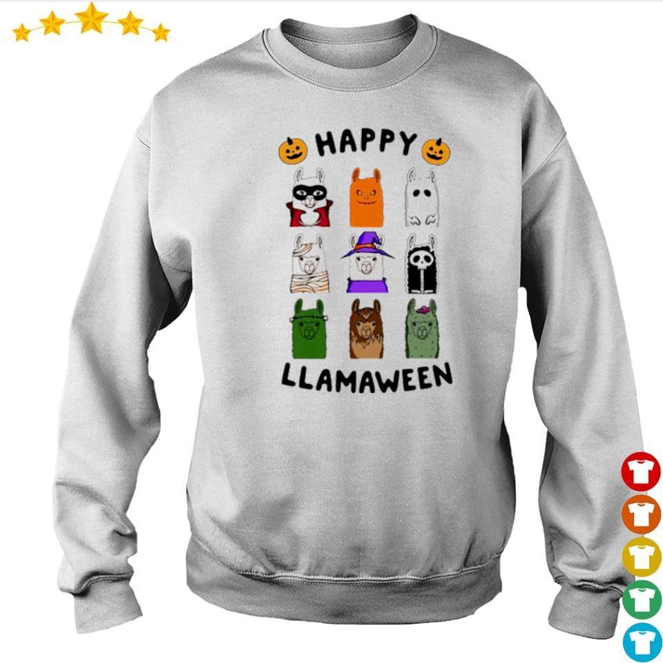 Scary Happy Llamaween Halloween s sweater