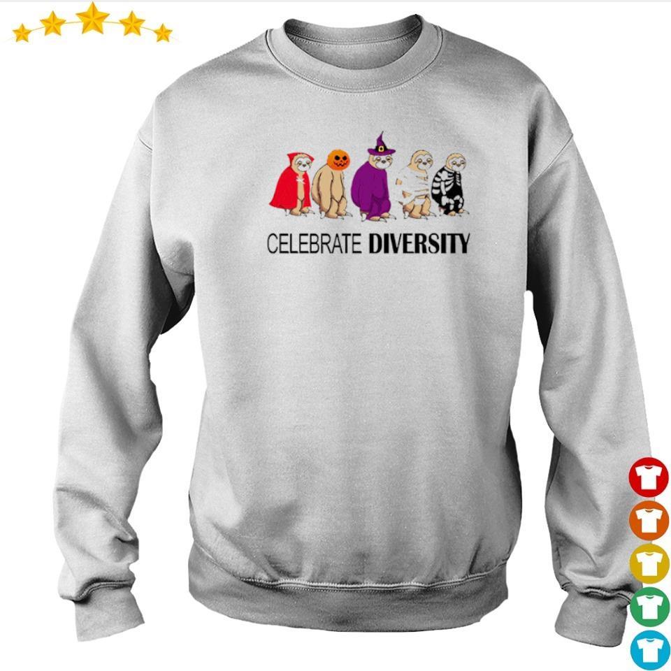 Sloth celebrate diversity Halloween s sweater