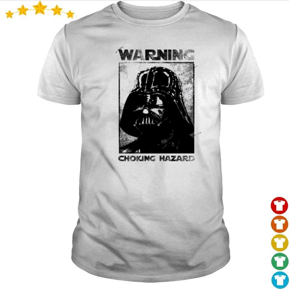 Star Wars Darth Vader warning choking hazaed shirt