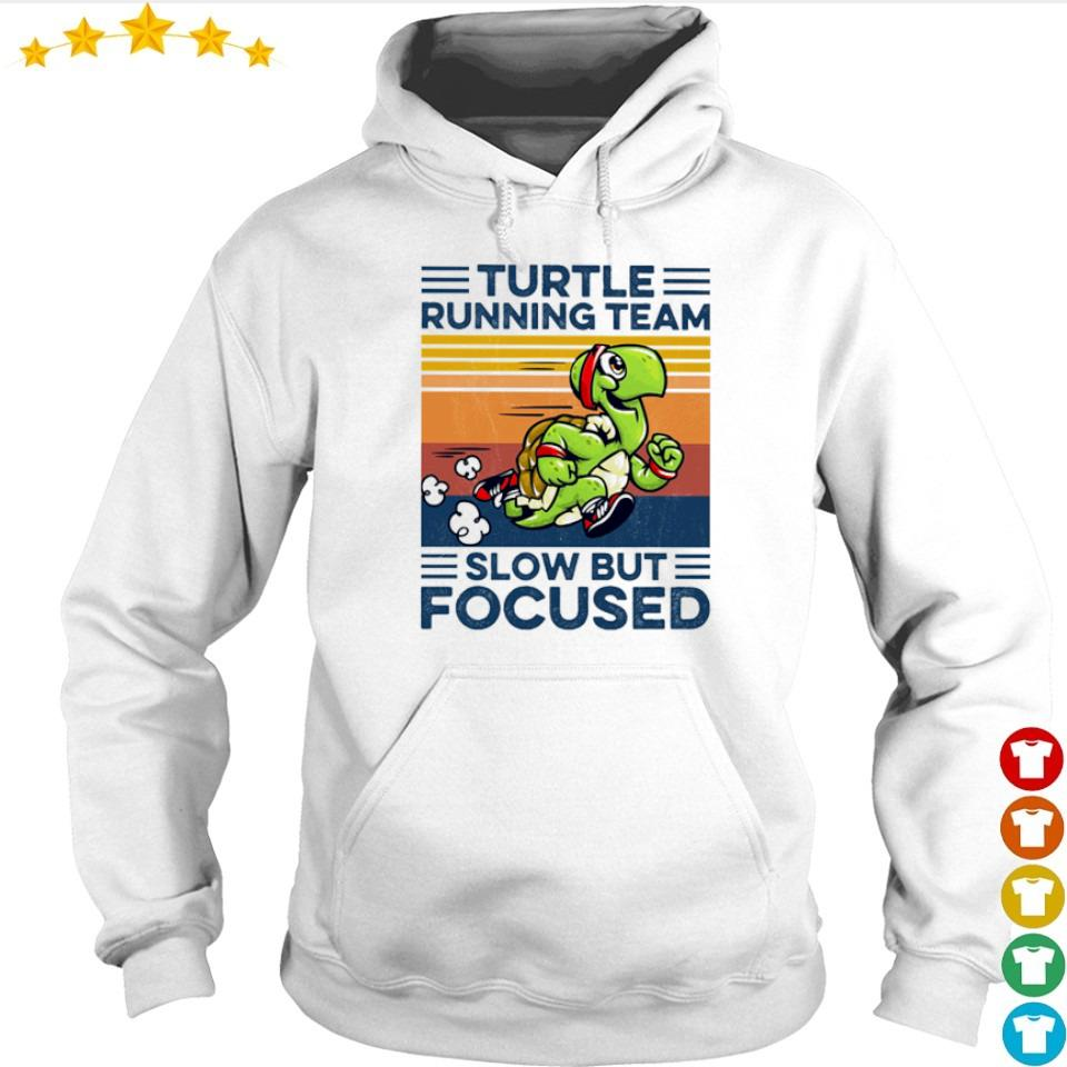 Turtle running team slow but focused vintage s hoodie