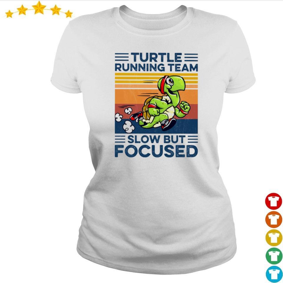 Turtle running team slow but focused vintage s ladies