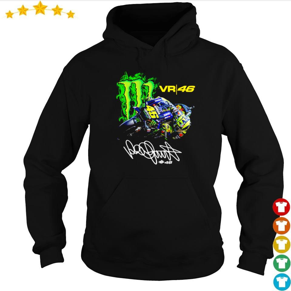 Valentino Rossi 46 Monster Drink signature s hoodie