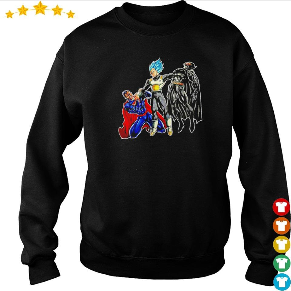 Vegeta beat Superman and Batman s sweater