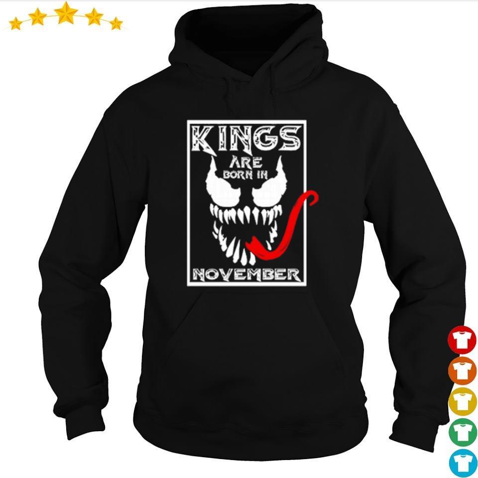 Venom kings are born in november s hoodie