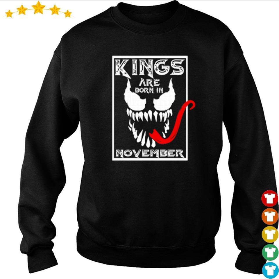 Venom kings are born in november s sweater