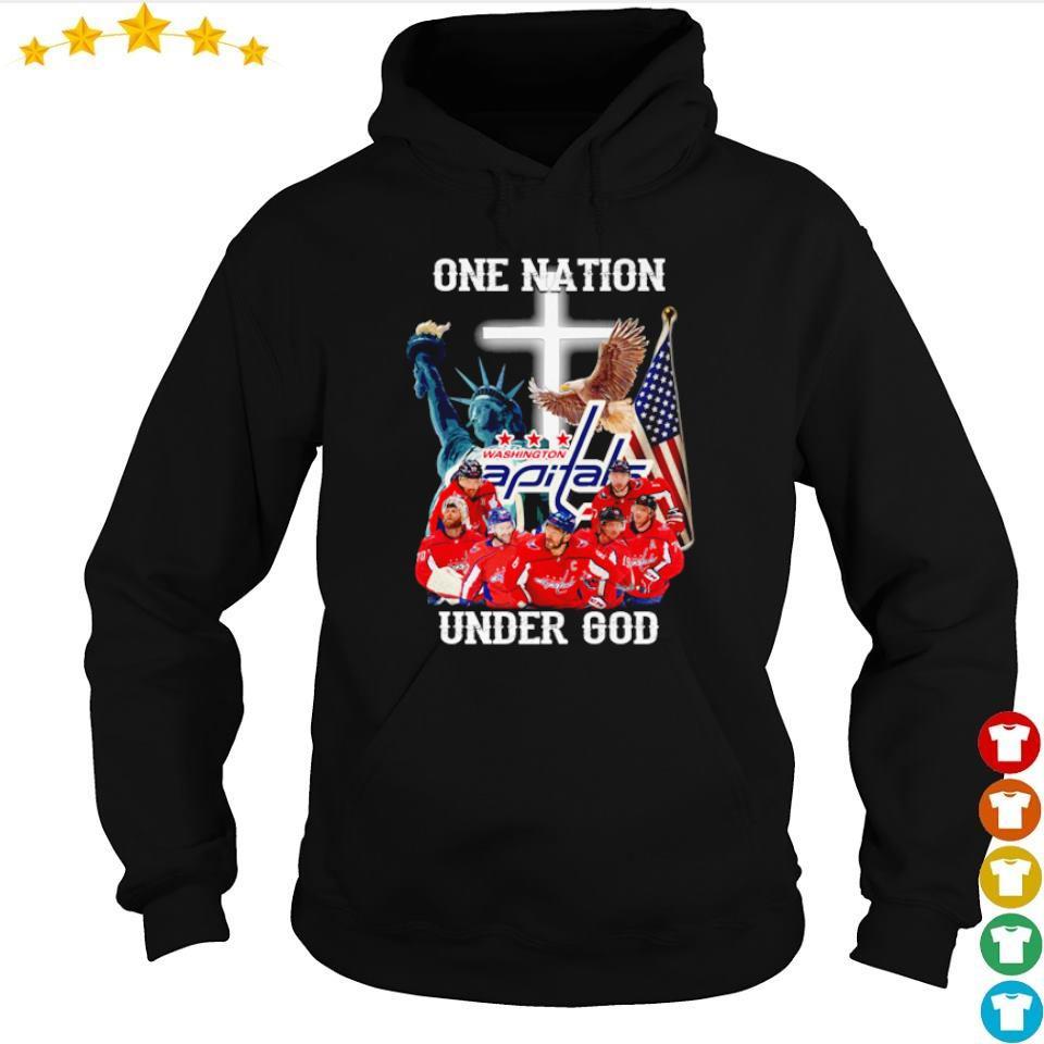 Washington Capitals one nation under God American Flag s hoodie