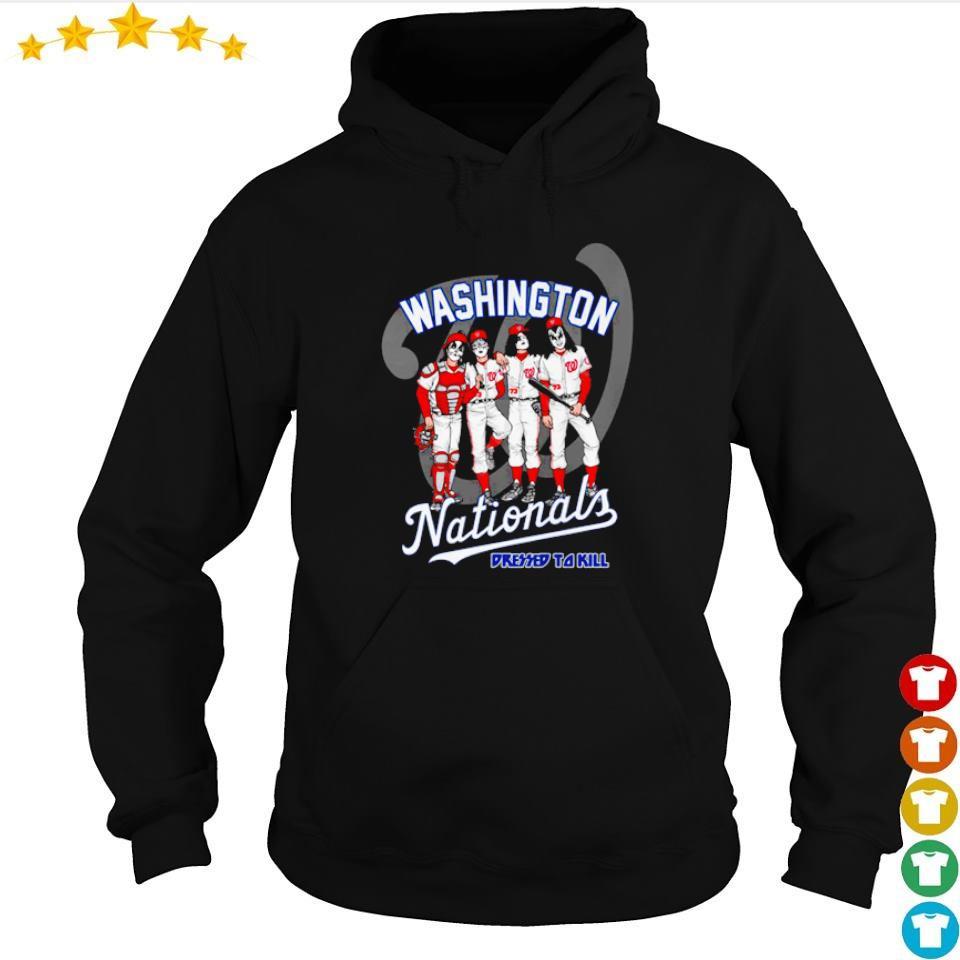 Washington Nationals Kiss dressed to kill s hoodie