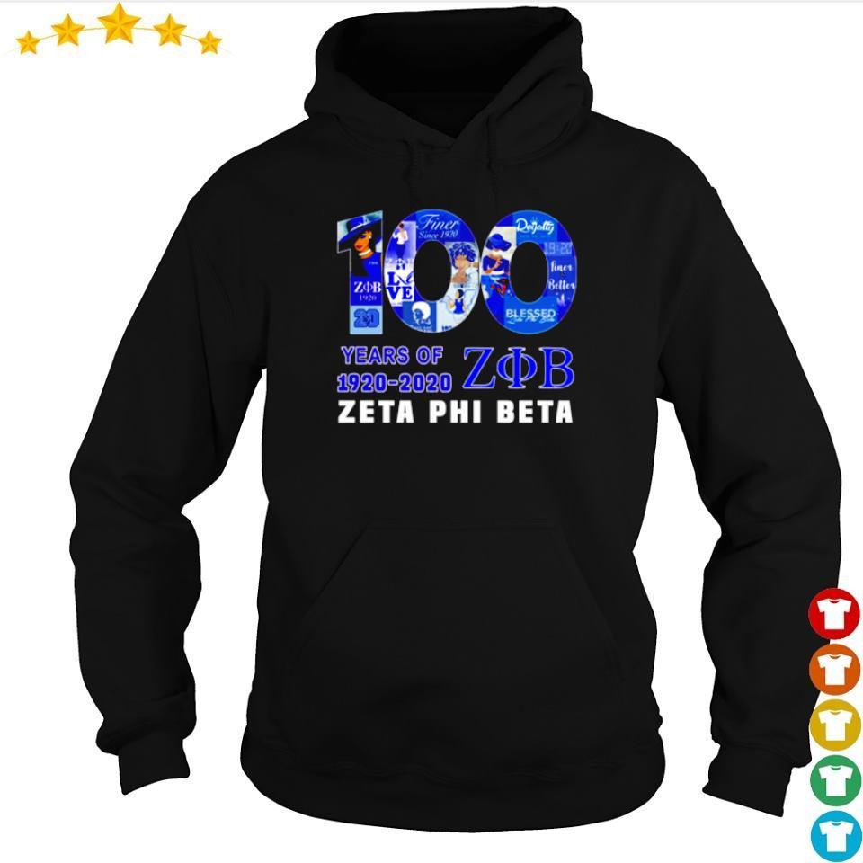 100 Years of 1920 2020 Zeta Phi Beta s hoodie