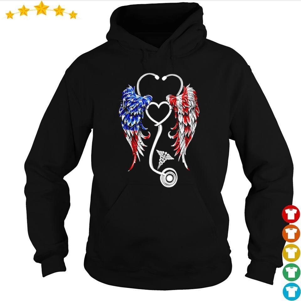 American Flag nurse wings s hoodie