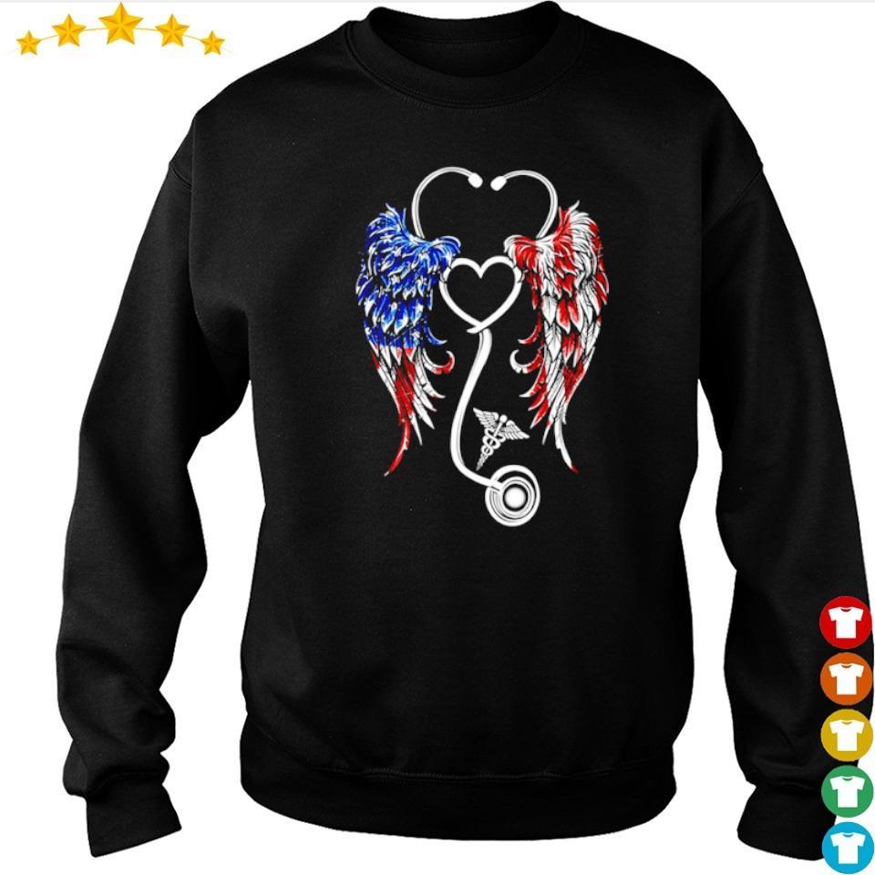 American Flag nurse wings s sweater