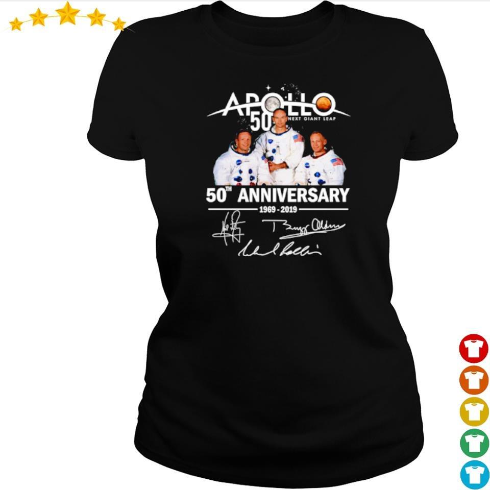 Apollo 11 50th anniversary signatures s ladies tee