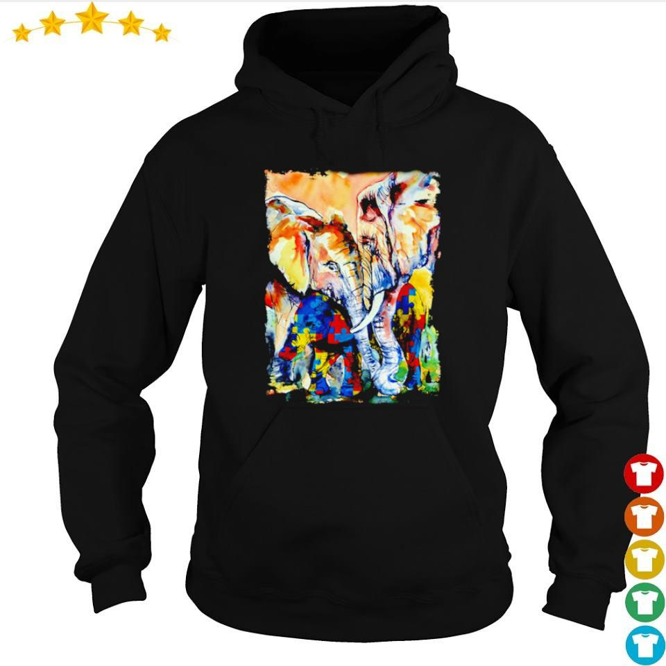 Autism awareness loving mama elephant s hoodie