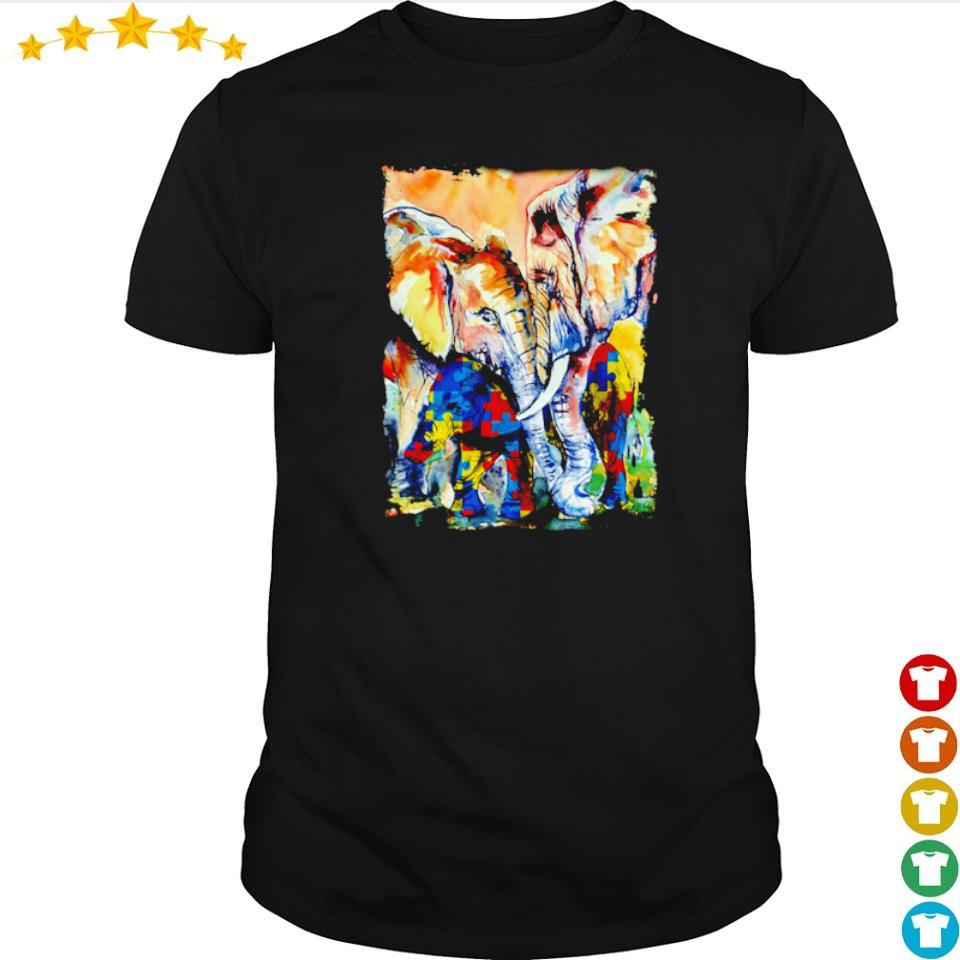 Autism awareness loving mama elephant shirt