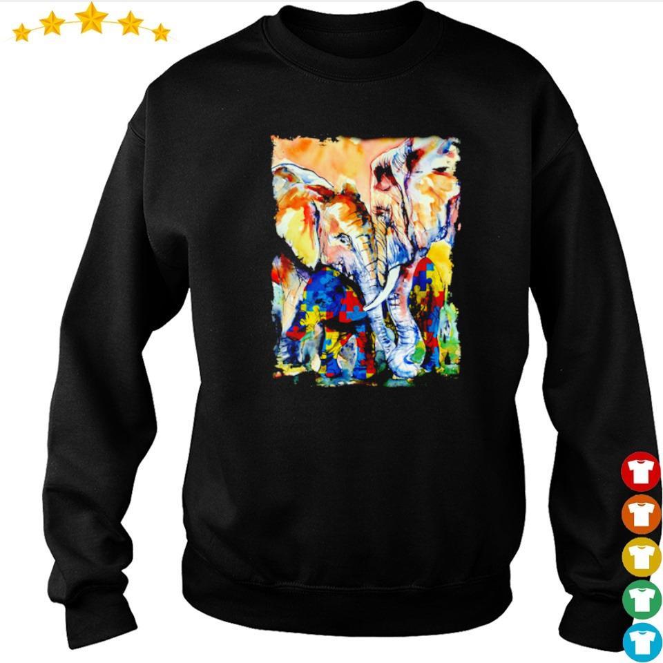 Autism awareness loving mama elephant s sweater