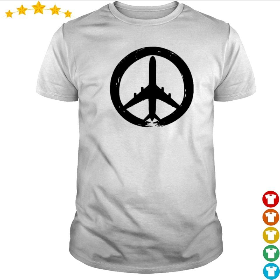 Awesome hippie logo plane shirt