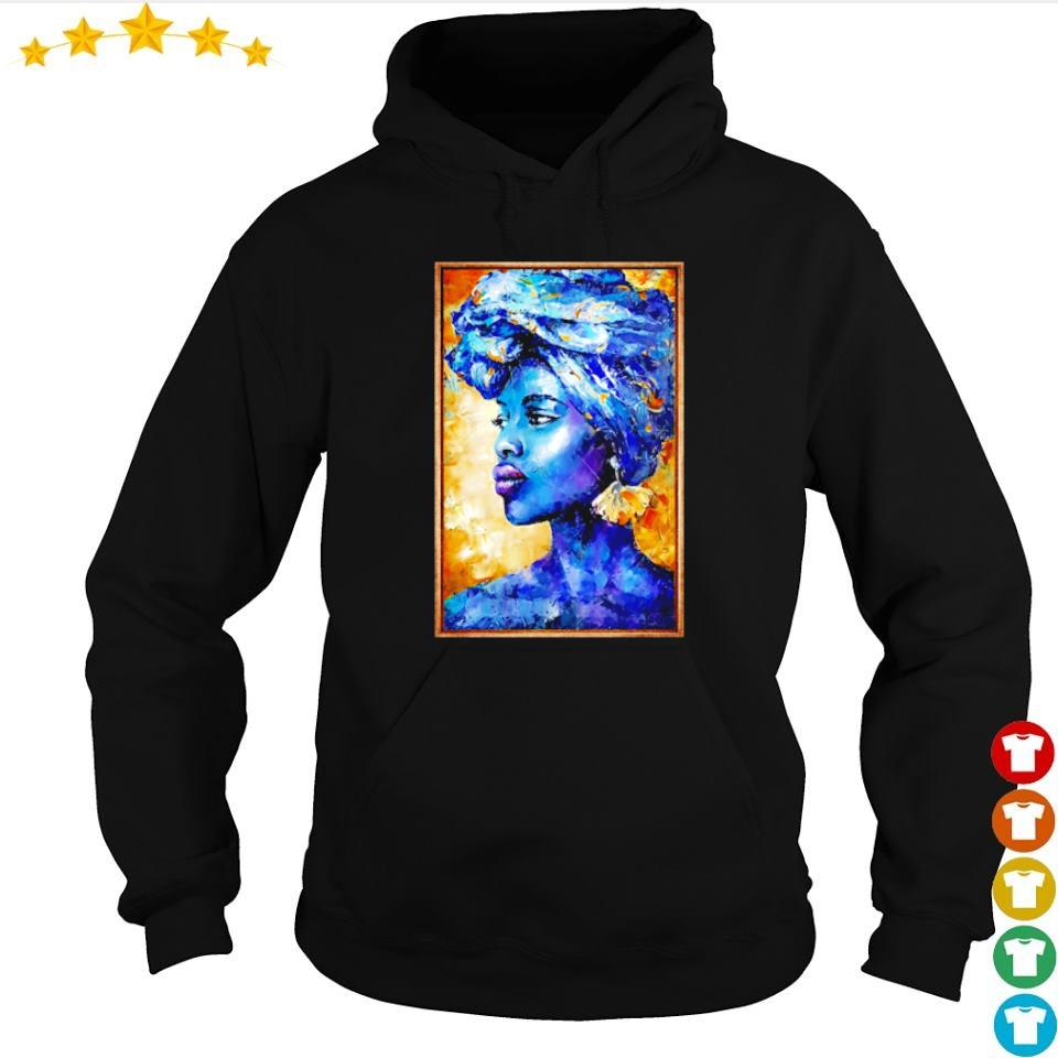Beautiful black woman portrait art s hoodie