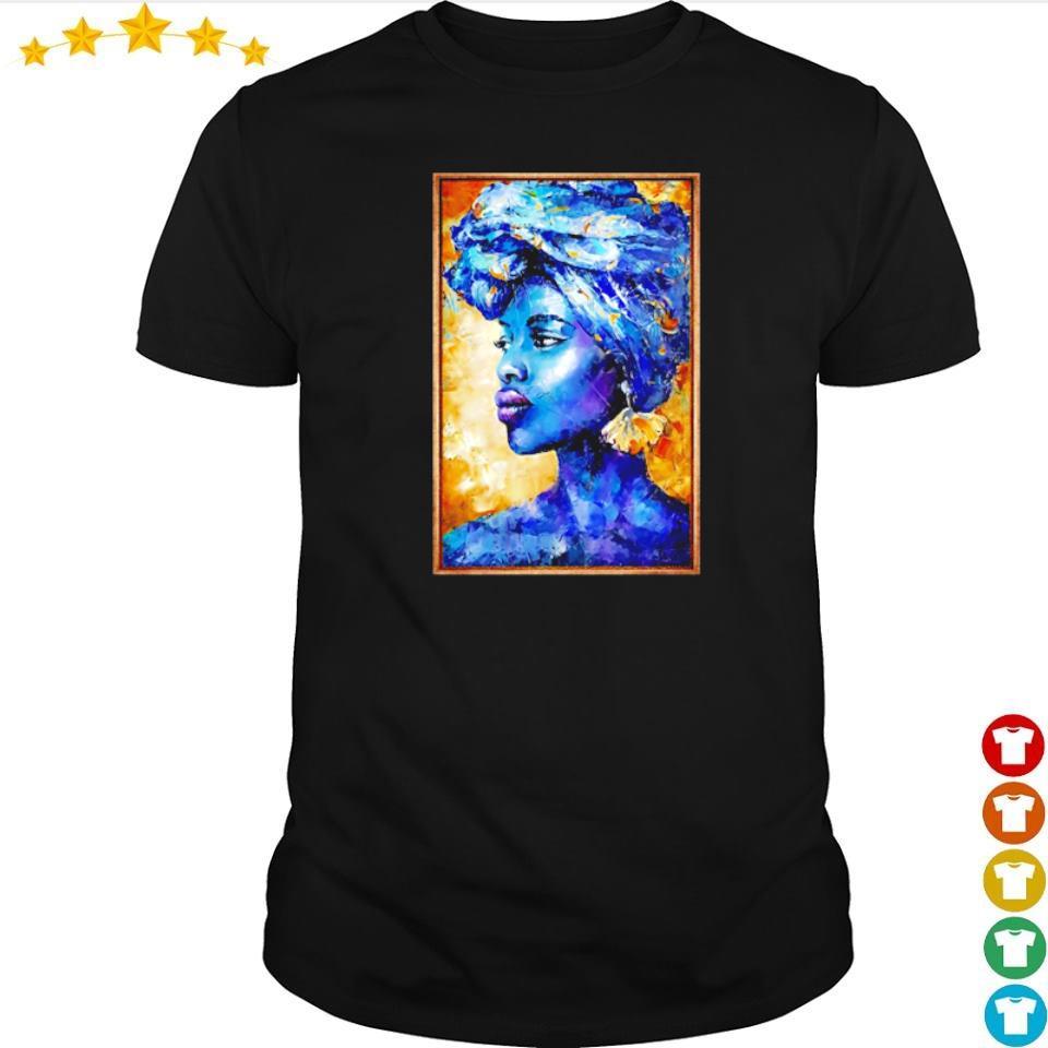 Beautiful black woman portrait art shirt