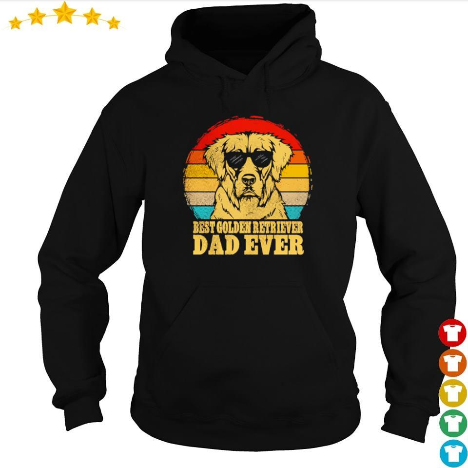 Best Golden Retriever dad ever vintage s hoodie