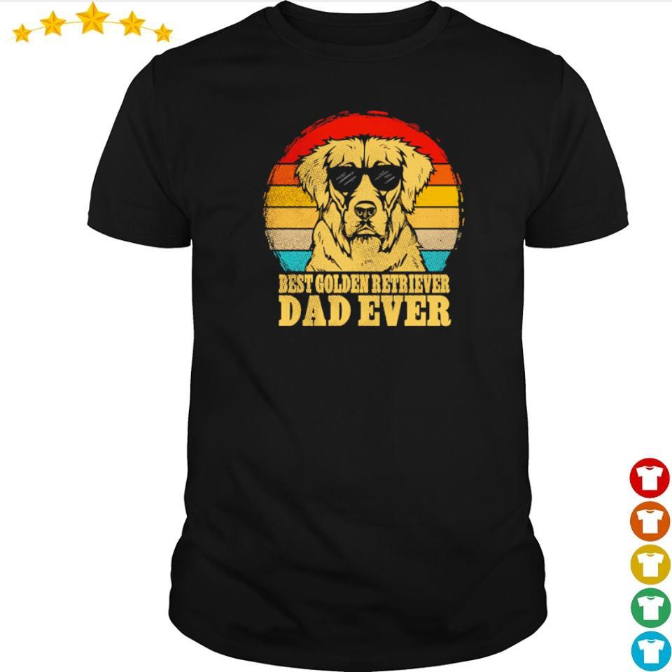 Best Golden Retriever dad ever vintage shirt