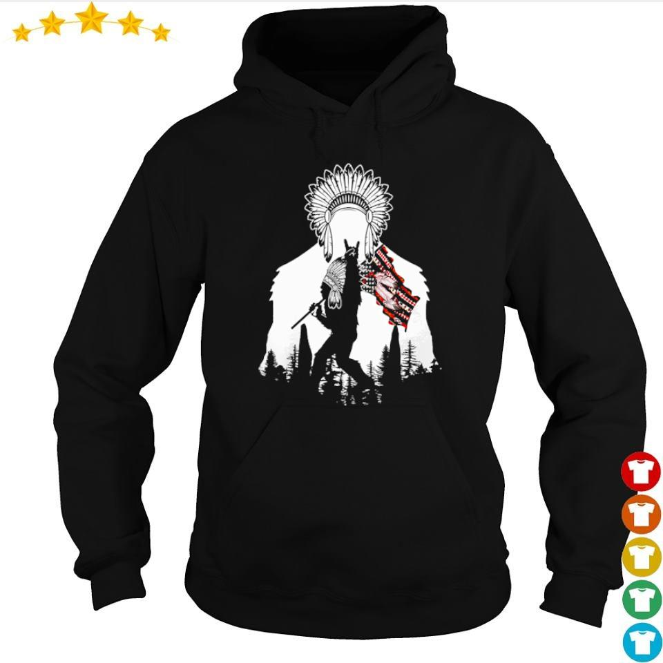 Bigfoot native American Flag s hoodie