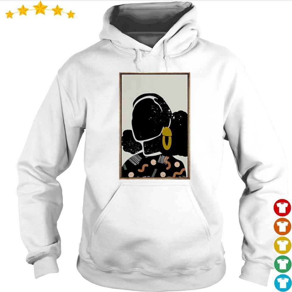 Black queen natural hair art s hoodie