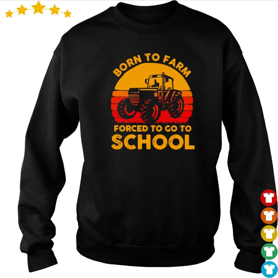 Born to farm forced to go to school vintage s sweater