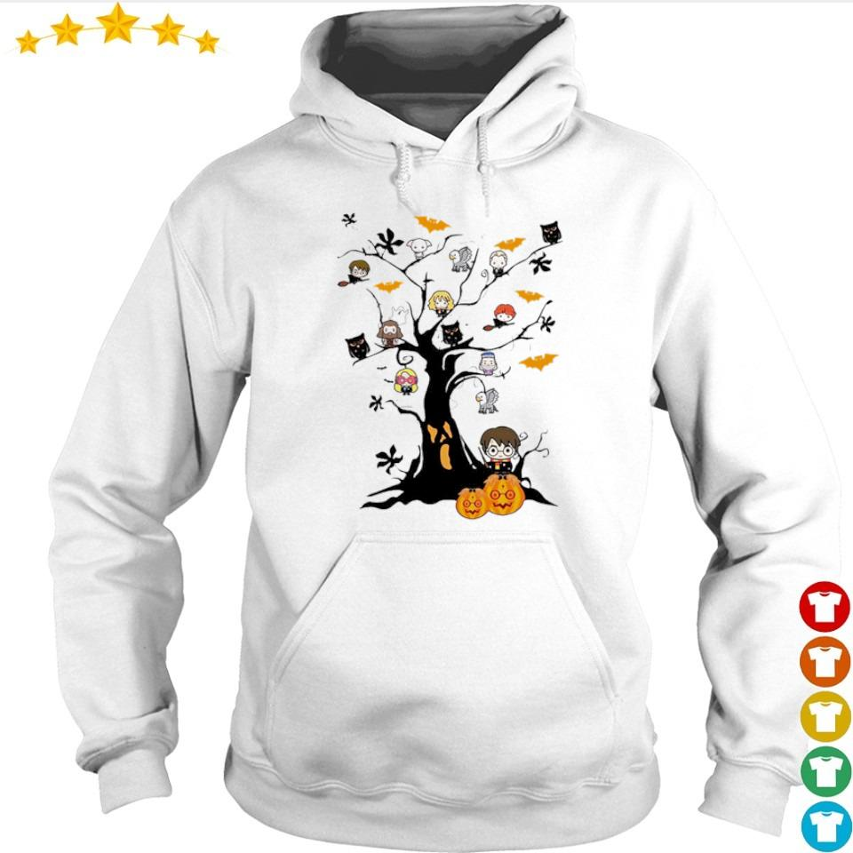 Chibi Harry Potter characters in Halloween tree s hoodie