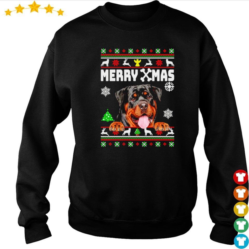 Cute rottweiler merry Xmas s sweater