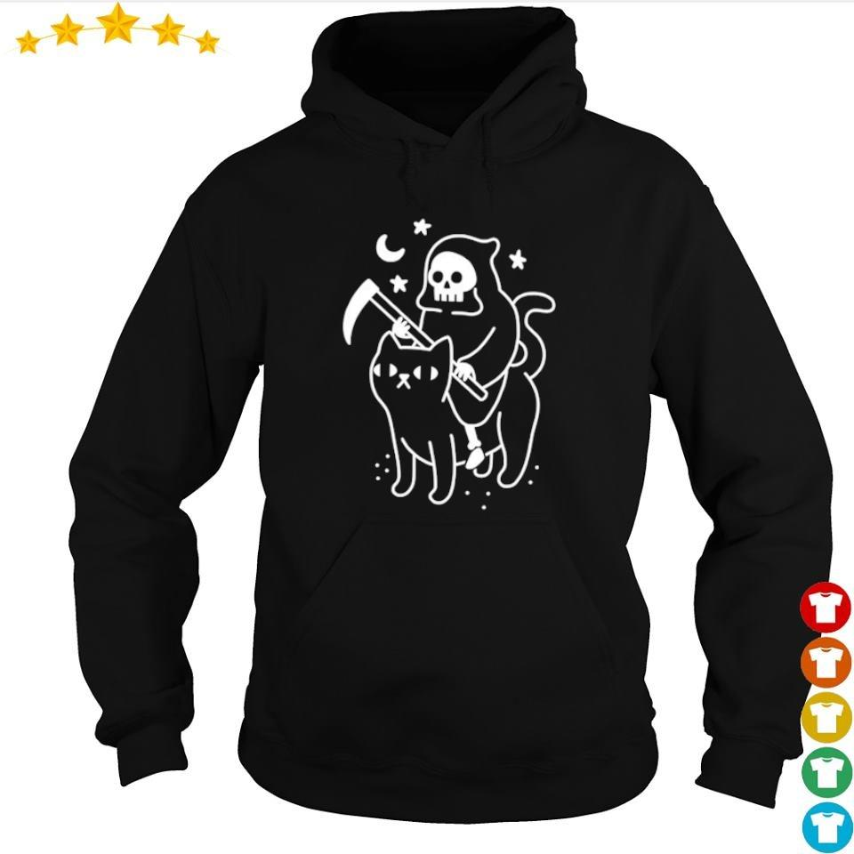 Death riding black cat s hoodie