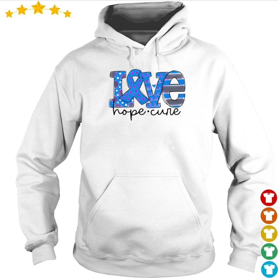 Diabetes love hope cure s hoodie