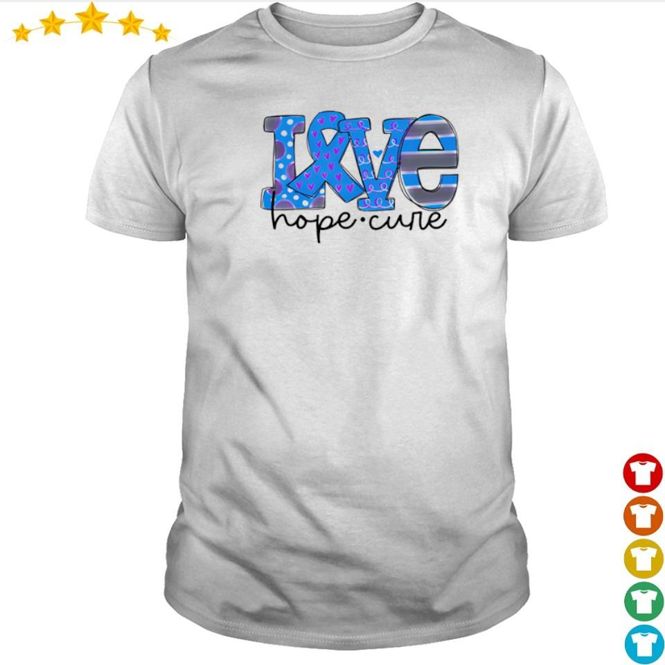 Diabetes love hope cure shirt