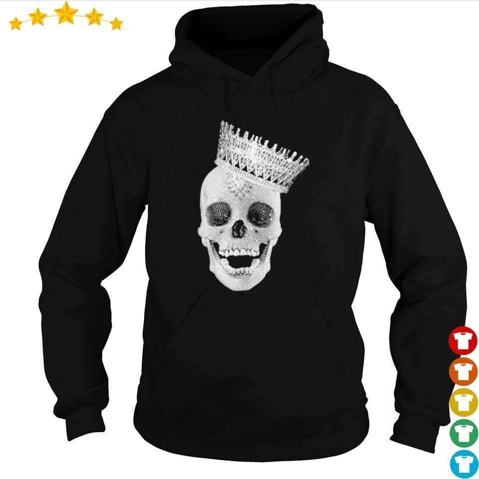 Diamond skull wearing crown s hoodie