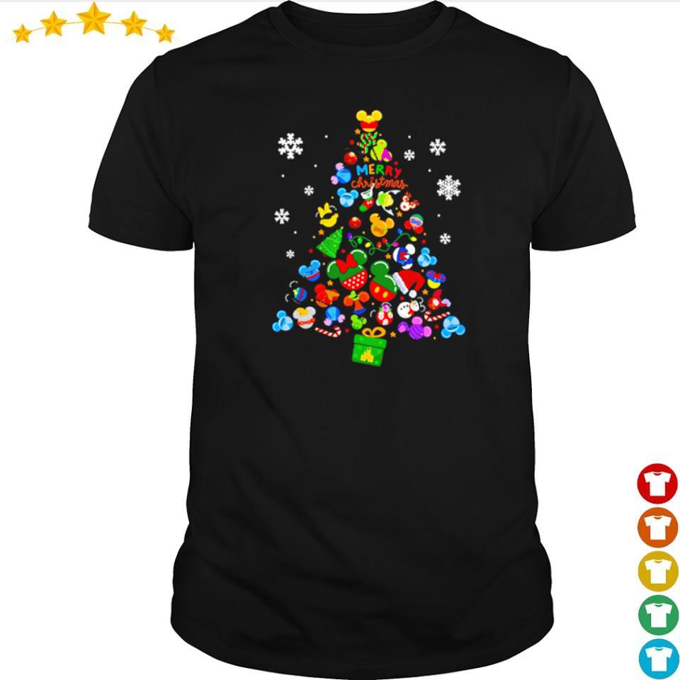 Disney Mickey Mouse merry Chirstmas tree shirt