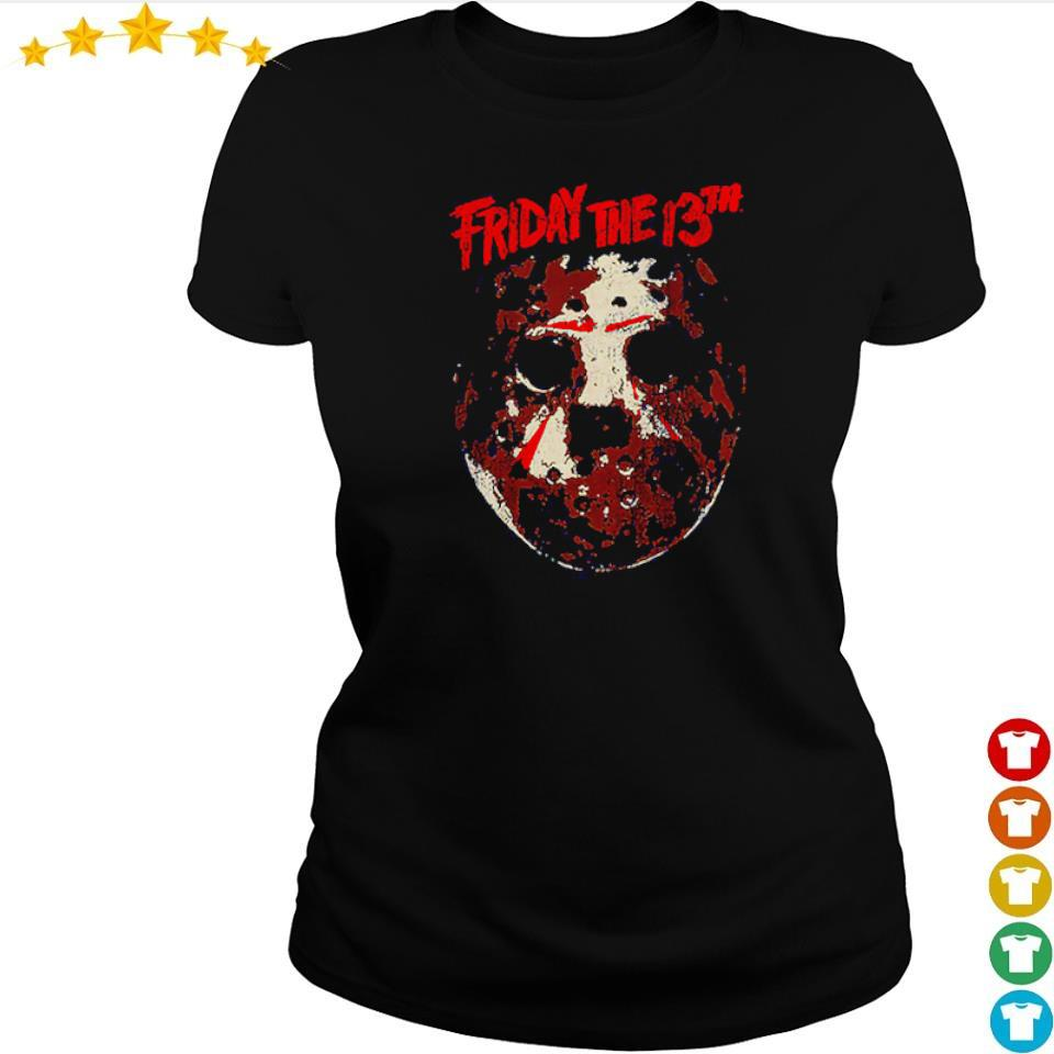 Distressed hockey mask Friday the 13th s ladies tee