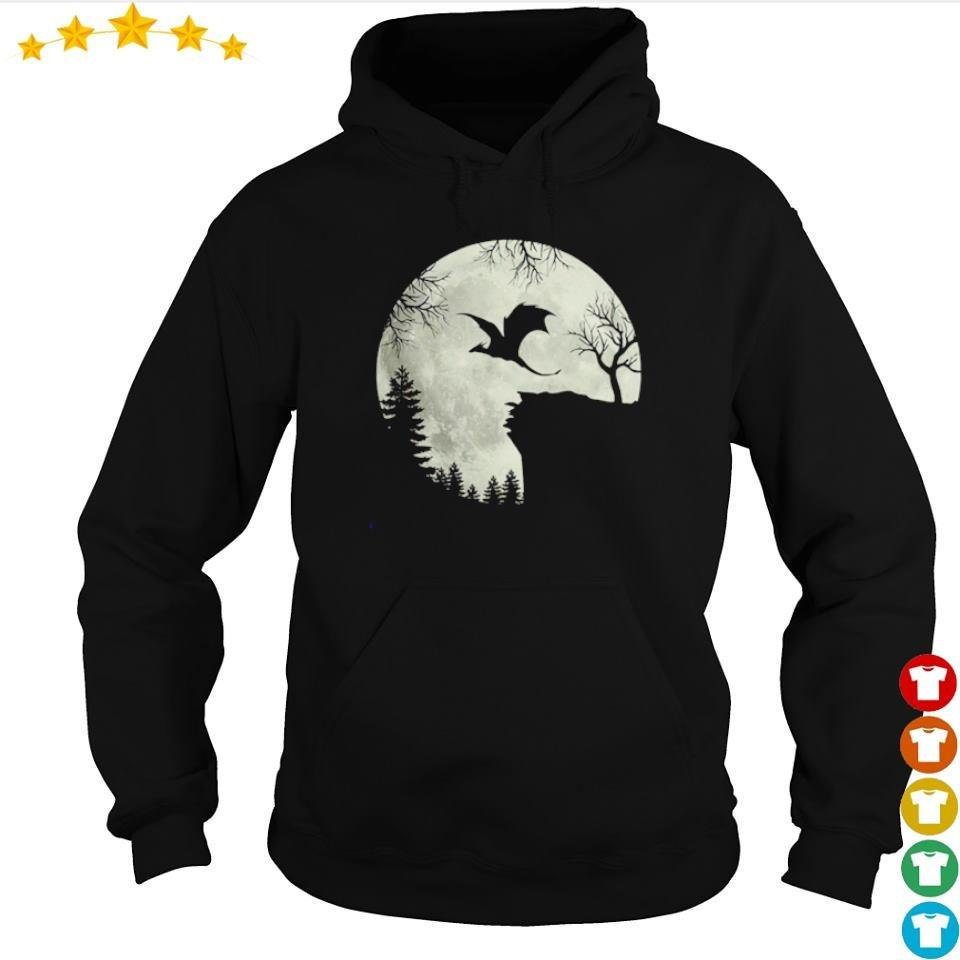 Dragon flying under the moon happy Halloween s hoodie