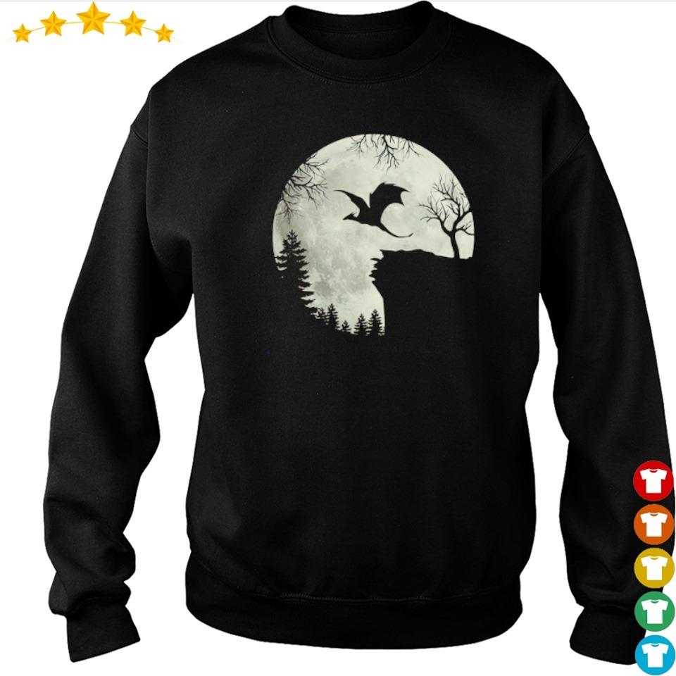 Dragon flying under the moon happy Halloween s sweater