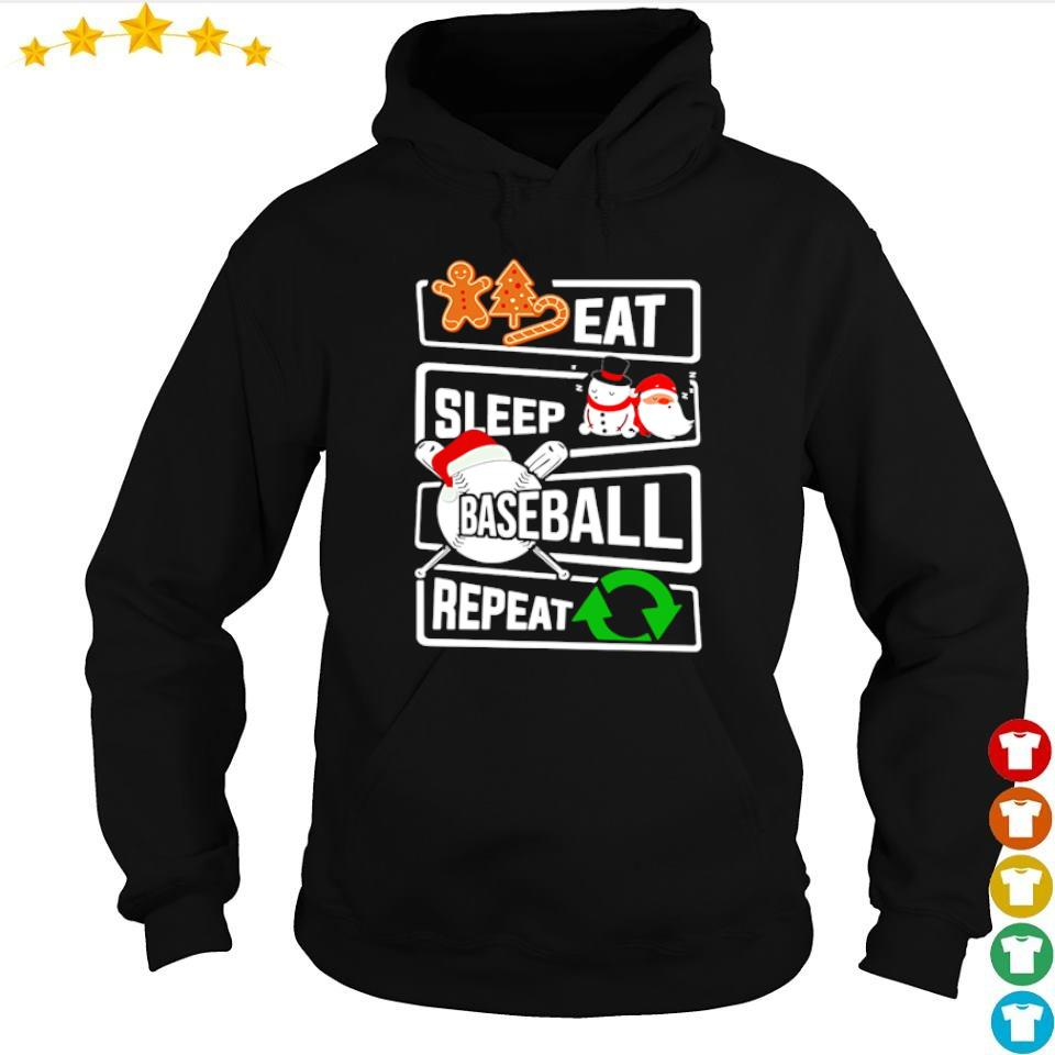 Eat sleep baseball repeat merry Christmas s hoodie