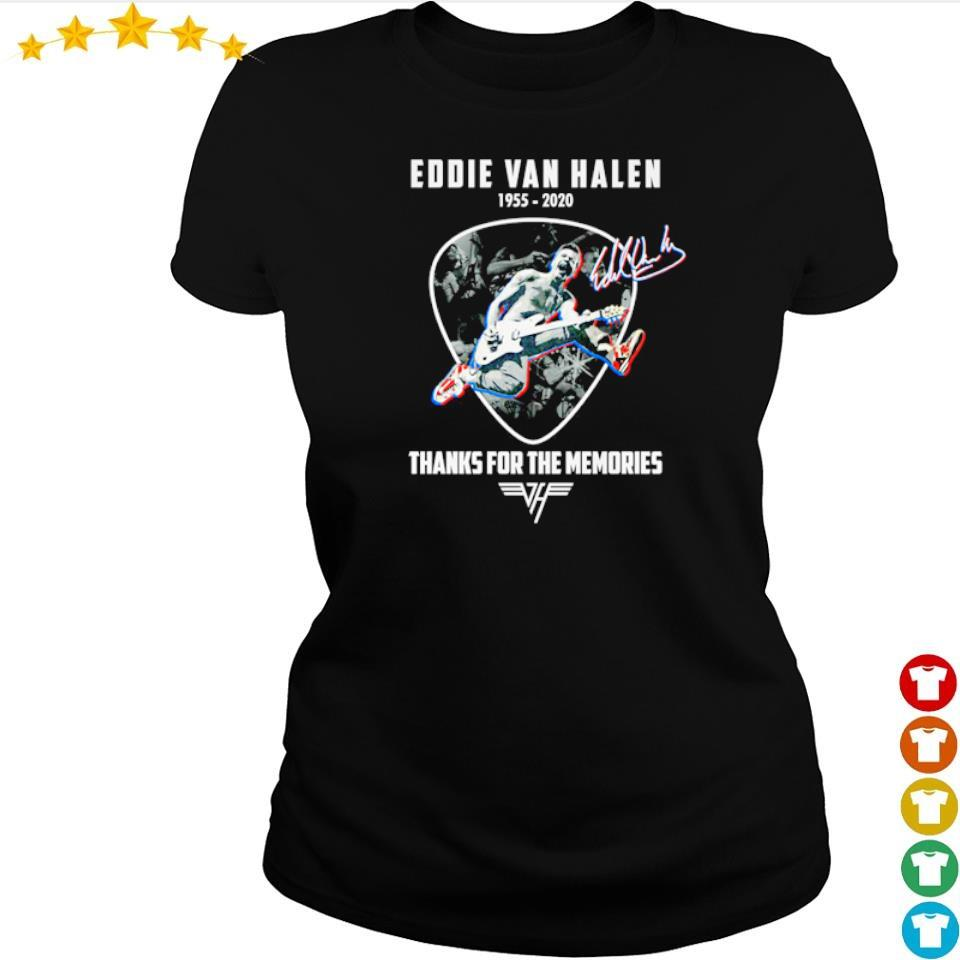 Eddie Van Halen 1955 2020 thank for memories signature s ladies tee
