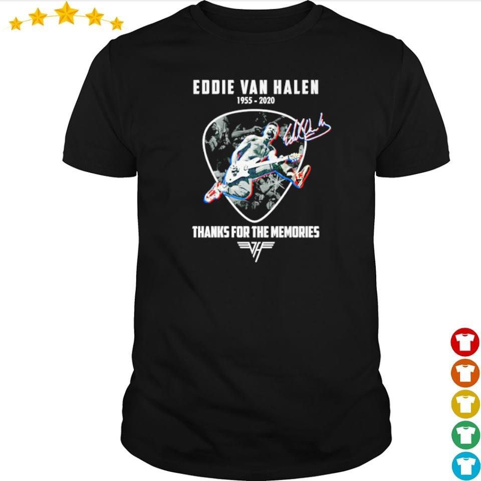 Eddie Van Halen 1955 2020 thank for memories signature shirt