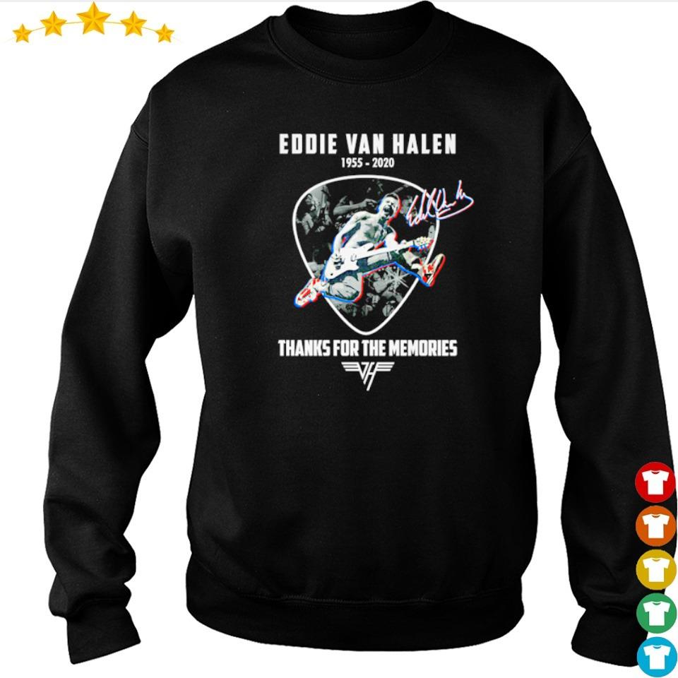 Eddie Van Halen 1955 2020 thank for memories signature s sweater