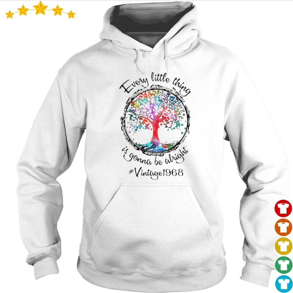 Every little thing is gonna be alright vintage 1968 s hoodie