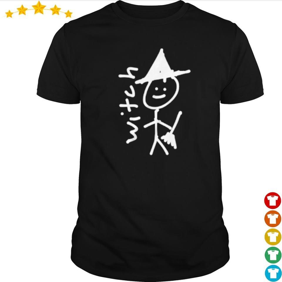 Funny drawing witch happy Halloween shirt
